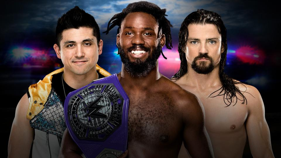 Rich Swann vs. TJ Perkins vs. The Brian Kendrick - WWE Cruiserweight Championship (Roadblock - End of the Line 2016)
