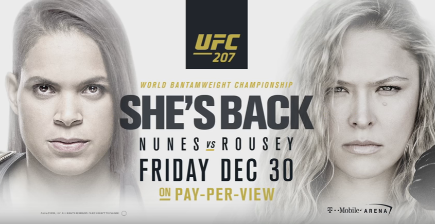 Ronda Rousey She's Back Poster For UFC 207