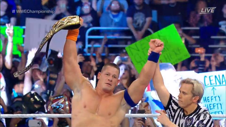 John Cena wins the WWE Championship at Royal Rumble 2017 - John Cena wins his 16th WWE Championship