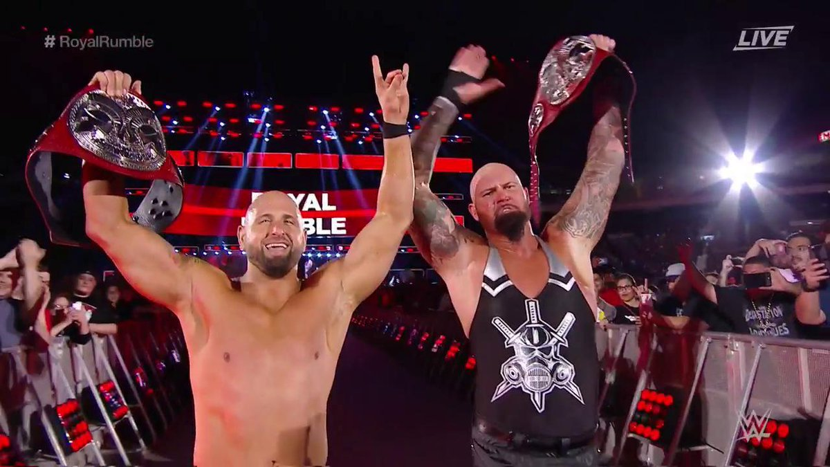 Luke Gallows & Karl Anderson win Raw Tag Team Titles at Royal Rumble 2017