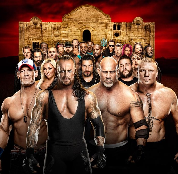 Royal Rumble 2017 Poster Featuring The Undertaker and Goldberg
